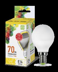 Лампа свд. LED-ШАР-standard 7,5Вт 160-260В Е14 3000К 600Лм ASD