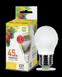 Лампа свд. LED-ШАР-standard 5Вт 160-260В Е27 3000К 400Лм ASD