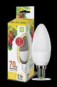 Лампа свд. LED-Свеча-standard 7,5Вт 160-260В Е14 3000К 600Лм ASD
