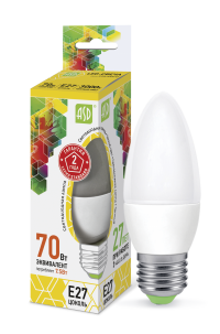 Лампа свд. LED-Свеча-standard 7,5Вт 160-260В Е27 3000К 600Лм ASD