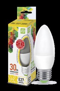 Лампа свд. LED-Свеча-standard 3,5Вт 160-260В Е27 3000К 300Лм ASD