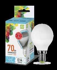 Лампа свд. LED-ШАР-standard 7,5Вт 160-260В Е14 4000К 600Лм ASD