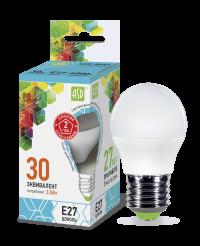 Лампа свд. LED-ШАР-standard 3,5Вт 160-260В Е27 4000К 300Лм ASD