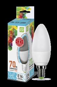 Лампа свд. LED-Свеча-standard 7,5Вт 160-260В Е14 4000К 600Лм ASD