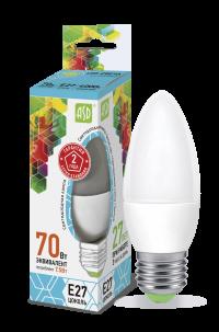 Лампа свд. LED-Свеча-standard 7,5Вт 160-260В Е27 4000К 600Лм ASD