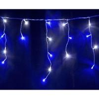 Свд. гирлянда бахрома 2x0,5м RW-OIC100LSE-B-T-I4-P-F (синяя/белая) мерцает