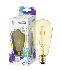 Лампа свд. LED-ST64-PRM 6Вт Е27 3000К 540Лм золотистая ASD
