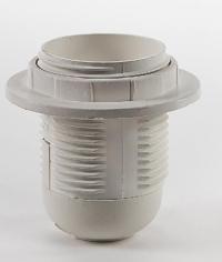 Патрон Е27 - ПП пластиковый с прижимным кольцом ASD