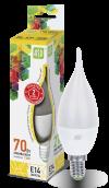 Лампа свд. LED-Свеча на ветру-standard 7,5Вт 160-260В Е14 3000К ASD