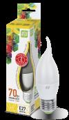 Лампа свд. LED-Свеча на ветру-standard 7,5Вт 160-260В Е27 3000К ASD