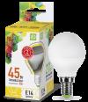 Лампа свд. LED-ШАР-standard 5Вт 160-260В Е14 3000К 400Лм ASD