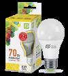 Лампа свд. LED-А60-standart 7Вт 220В Е27 3000К ASD